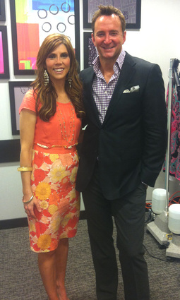 Alicia with Clinton Kelly from What Not to Wear