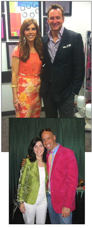 Alicia with Clinton Kelly of What Not to Wear