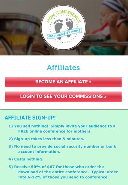 Mom Summit Affiliate Signup
